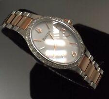 Ladies Genuine Bulova Diamond Gallery 98R190 White Rose Gold Mop Designer Watch