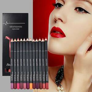12PCS/Set Waterproof Lip Liner Lipstick Long Lasting Matte Lipliner Pencil Pen