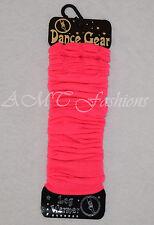 Leg Warmers Neon Plain Fancy Dress Ladies Girls 80s Disco Womens Legwarmers New