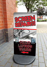 iPhone Screen Repair PAVEMENT SIGN ADVERTISING SHOP DISPLAY Apple iPad, Laptop