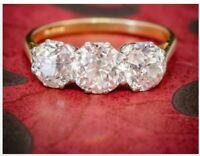 Antique 4.25.Ct Diamond White Round Cut Art Deco Vintage Wedding Ring 925 Silver