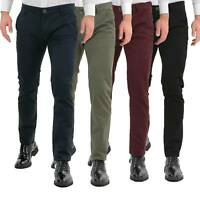 Pantaloni Uomo Slim Fit Eleganti Invernali Cargo Classico Chino Kaki Tasca Ameri