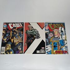 Cable #1, #1, #40 1993 White Pages Embossed Gold Foil Logo Cover Marvel - NM!