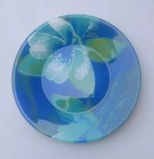 Decorative Plate / Saucer 7.5 Inches - Blue Floral #226
