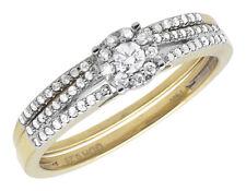 14k Yellow Gold Ladies Flower Cluster Diamond Split Shank Engagement Ring .28ct