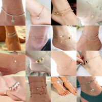 Women Simple Chain Anklet Ankle Bracelet Barefoot Sandal Beach Foot Jewelry Gift
