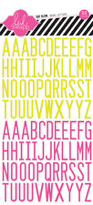 Heidi Swapp Alphabet Neon Day Glow Letter Stickers, Cards, Craft, Srapbooking