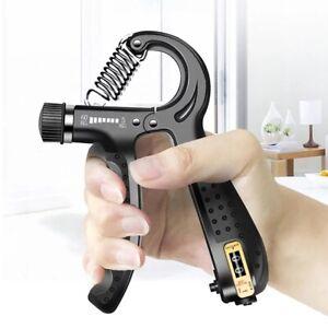 Hand Grip Strength Power Trainer Gripper Strengthener Adjustable Gym Exerciser.