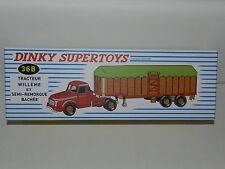 dinky 36b boite camion willeme semi remorque bâchée avec tampon rouge meccano