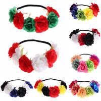 noël partie ruban cheveux garland mariage bandeau la couronne de fleurs