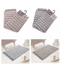 LUXE BATHROOM HELENA Chunky Knit  Super soft Bath Mat