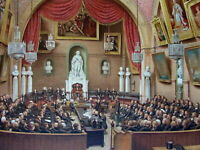 London Guildhall Council Chamber 1886 large beautiful color lithographed print