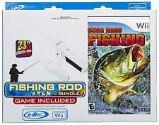 Wii Sega Bass Fishing Bundle with Fishing Rod  (Sega)