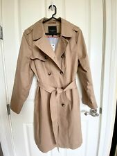 NWT Talbots Double Breasted Trench Coat Rattan Tan Camel Brown Petite PXL $199