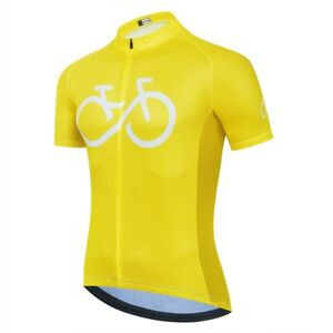 Mens Team Bike Cycling Jersey Short Sleeve Tops Bicycle Shirt Maillots Pockets