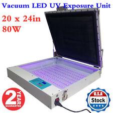 20 x 24in Tabletop Precise 80W Vacuum LED UV Exposure Unit for Screen Printing