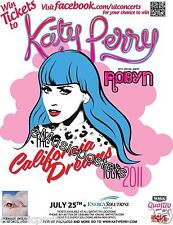 "Katy Perry / Robyn ""California Dreams Tour"" 2011 Salt Lake City Concert Poster"