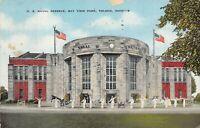 Vintage U.S. Naval Reserve Bay View Park Toledo Ohio   Linen Postcard 1945
