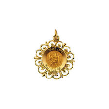 St. Luke Medal In 14K Yellow Gold