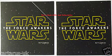 Hallmark Star Wars Lucasfilm The Force Awakens Deep Space Large Gift Tags X 2