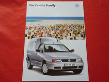VW Caddy Family 1.4 1.6 1.9 SD 1.9 SDI 1.9 TDI Prospekt von 1997