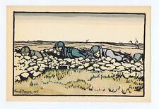 Guerre 1914-1918: Estampe de GEORGES BRUYER, vers 1917. Voir description. Réf 06