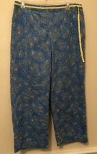 Charter Club Golf Women's Floral Cropped Length Pants Size 12