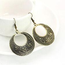Fashion Women's Boho Ethnic Drop Dangle Vintage Earrings Jewelry Bronze Silver