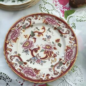 2 Masons Dinner Plates in Mandalay Red