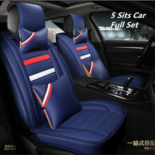 Fashion PU Leather Car Seat Cover Set Breathable Interior Accessories Decoration