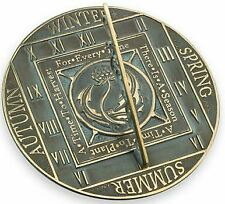 Rome Season Cycle Sundial - Solid Brass with Verdigris Highlights