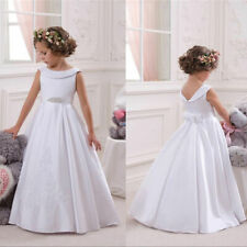 Wedding Party Flower Girl Dress Holy Communion Party Dress Prom Princess Pageant