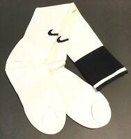 NEW w/ TAGS NIKE SOCCER SOCKS Adult Unisex Size Medium White w/ Black