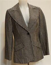 Pendleton Vintage Black/White Plaid Wool Blazer Jacket Made in USA 12