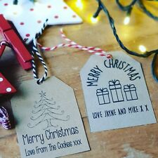 Personalised gift tags christmas