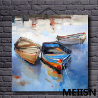 CHENPAT158 100% hand-painted charm boat landscape art oil painting  on canvas