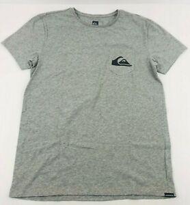 Quiksilver T Shirt Premium Fit Mens Medium Grey Soft Stretch Logo Top Australia