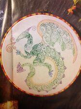 (A1) Blackwork Fantasy Dragon Cross Stitch Chart