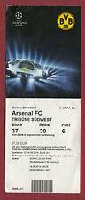 ORIG. biglietto CHAMPIONS LEAGUE 14/15 Borussia Dortmund-Arsenal FC!!! RARO