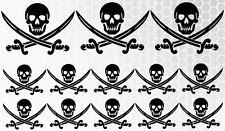 18x Piratas Black Pearl Ninja MOTOCICLETAS COCHE Pegatina JDM OEM DUB Adhesivo