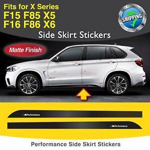 Für BMW F15 F16 F85 Performance Seite Schweller Türleiste Aufkleber Grafik MATT
