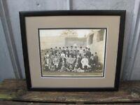 Antique Framed Egyptian Boy's School Class  Photograph From Cairo Egypt B9081