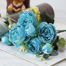 1 Bouquet Artificial Fake Peony Silk Flower Bridal Hydrangea Wedding Party Déco