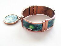 Vintage Matisse GRACELET Bracelet, Modernist Abstract Enamel Copper Bangle