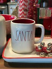 Magenta Rae Dunn Christmas Winter LL Red Lined Santa  Mug New!
