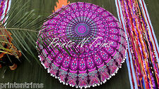 "32""  Large Round Mandala Tapestry Floor Cushion Cover Decorative  Poufs Pillow"