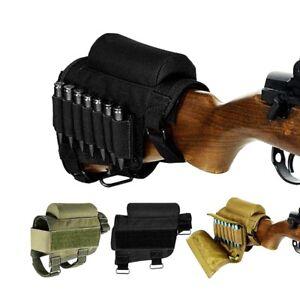 Rifle Buttstock Cheek Ammo Carrier Rest Pad Case Holder for .300 .308 Hunting BK