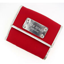 Kate Spade Wallet Purse Folding wallet Red Silver Woman Authentic Used Y562