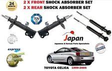 FOR TOYOTA CELICA 1999-2005 NEW 2X FRONT + 2X REAR SHOCK SHOCKER ABSORBER SET