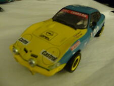 Power Slot OPEL GT (Baby Vette) Blue & Yellow #33 Inline Set Up Used